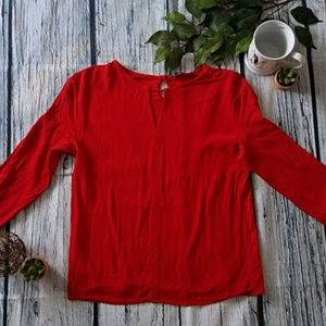 H&M MNG Red long sleeve blouse